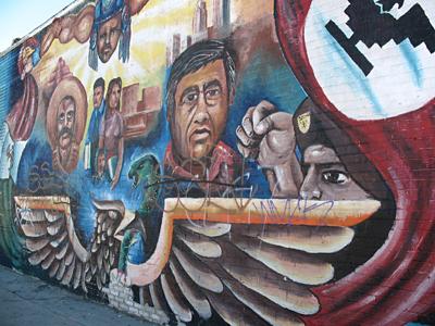 Mural de la calle Boyle en la ciudad de Los Ángeles