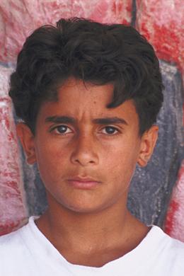 Faraj, niño palestino