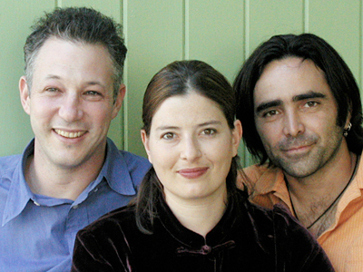 B.Z. Goldberg, Justine Shapiro y Carlos Bolado