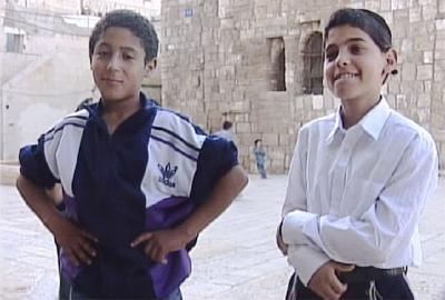 Un niño palestino y Shlomo